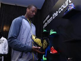 Harrison Barnes of Golden State Warriors adidas VIP Suite 1