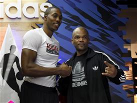 Dwight Howard and Run DMC at adidas Store during NBA All-Star