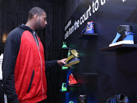 Andre Drummond of Detroit Pistons at adidas VIP Suite