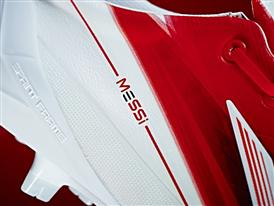 The Messi logo adorns the new adizero f50 Messi boots