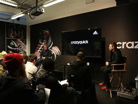 adidas' Robbie Fuller (R) and Al Van Noy (L)