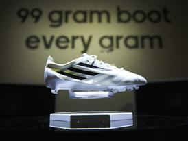 99 gram boot showcased at the adidas lab London
