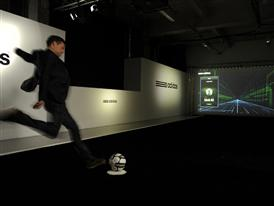 Michael Ballack on the Smart Ball wall