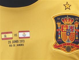 Detalle camiseta oficial partido Tahiti
