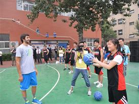 Q vs F China Tour BEIJING-CSR Event 2-Ricky Rubio