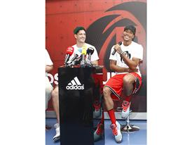 adidas, D Rose Tour, Zagreb, Croatia (photo Derrick Rose and Gordan Giricek)