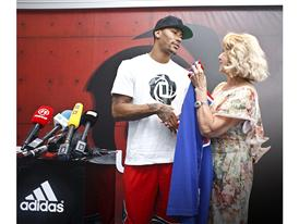 adidas, D Rose Tour, Zagreb, Croatia 1 (photo Derrick Rose and Biserka Petrovic)