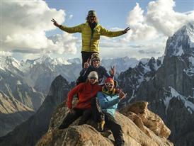 Guido, Simon, Hannes, Hechei, Karakorum, Pakistan