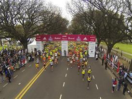 Los corredores del Maratón de Buenos Aires dieron cierre a Carrera de Naciones 2