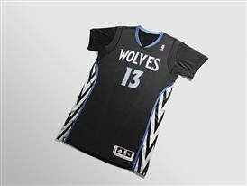 adiads T-Wolves Lights Out Jersey 1