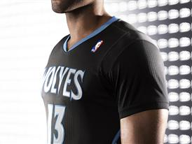 adiads T-Wolves Lights Out Jersey 5