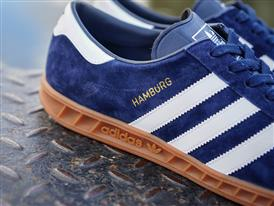 adidas Originals Hamburg Blue close up