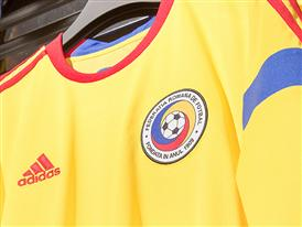 Echipament Nationala Away detaliu closeup