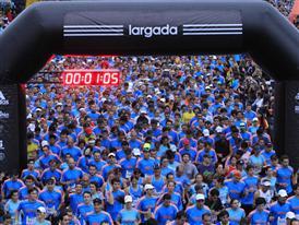 Largada - Media Maraton Ciudad de Rosario 2014