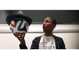 Pharrell Celebrates @brazuca's 2 Million Twitter Followers