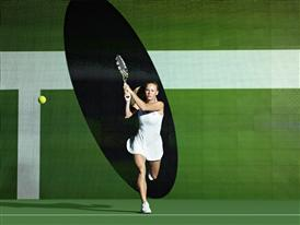 Innovative texture and contrasting structures make an impact at all white Wimbledon - adidas by Stella McCartney barricade