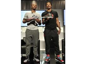 Derrick Rose & Damian Lillard (L), D Rose 5 Boost & Crazy Light Boost (1)