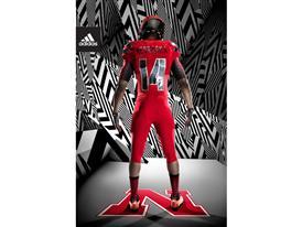 adidas NCAA Nebraska Back