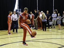 Thomas Müller Hits the Hardwood at adidas America HQ in Portland