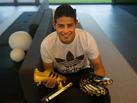 JAMES RODRÍGUEZ PRESENTED WITH ADIDAS GOLDEN BOOT AWARD 11