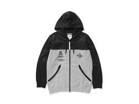 NH Zipup Hoodie Front Black Gray