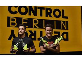 Mesut Ozil and Ander Herrera at the BASE