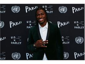 RGIII attending the adidas x Parley event at the United Nations