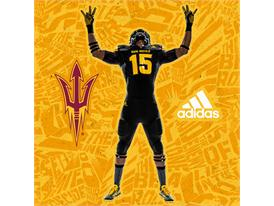 ASU adidas Football Black Pitchfork