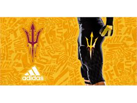 ASU adidas Football Black Pant
