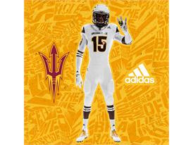 ASU adidas Football White Pitchfork