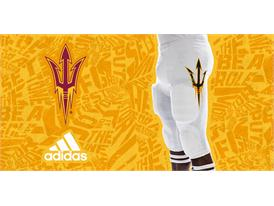 ASU adidas Football White Pant