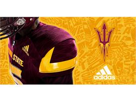 ASU adidas Football Maroon Shoulder