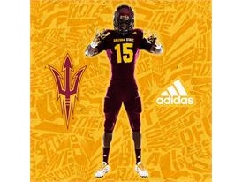 ASU adidas Football Maroon Pitchfork