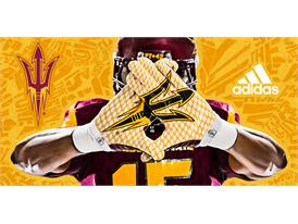 ASU adidas Football Home Gloves