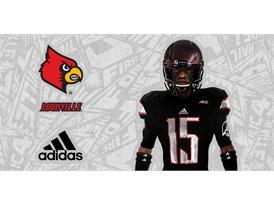 Louisville Black adidas Football 3