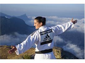 Световно известната джудистка Майра Агуиар тренира на едно от знаковите места в Рио де Жанейро
