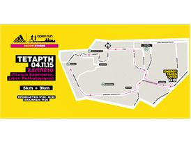 adidas Open Run Zappeio - Digital Map