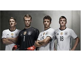 """Die Mannschaft"" and Cro present the Germany home kit for UEFA EURO 2016™"