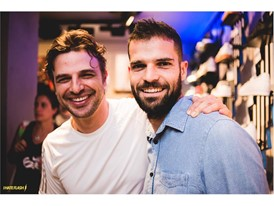 Cassio Reis and Paulo Ziliotto in Ipanema's opening