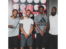 Derrick Rose, Damian Lillard, Andrew, Wiggins and James Harden join adidas at #LVL3_Square