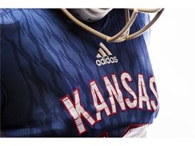 Kansas x adidas Limestone Jeresey Logo