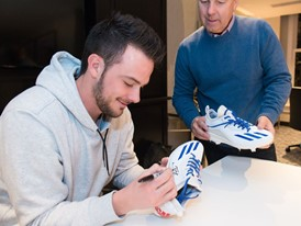 MVP Kris Bryant and adidas North American President Mark King 1