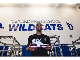adidas Dame3 Oakland High Weight Room 1