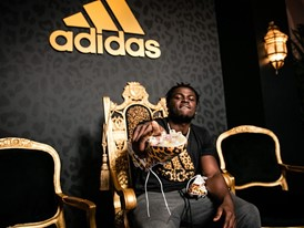 adidas x Jabrill Peppers adizero40 cleat 2