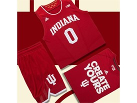 adidas NCAA Create Yours Indiana Mens 5