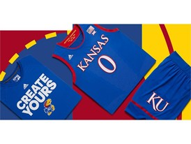 adidas NCAA Create Yours Kansas Mens 3