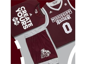 adidas NCAA Create Yours Mississippi State Mens 1