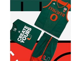 adidas NCAA Create Yours Miami Mens 5