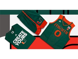 adidas NCAA Create Yours Miami Mens 3
