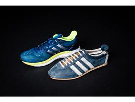 Kathrine's original shoe – adidas Special – and current shoe – adidas Supernova BOOST 2